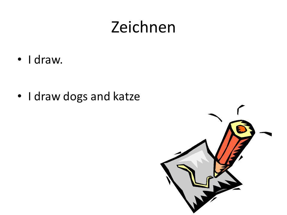 Zeichnen I draw. I draw dogs and katze