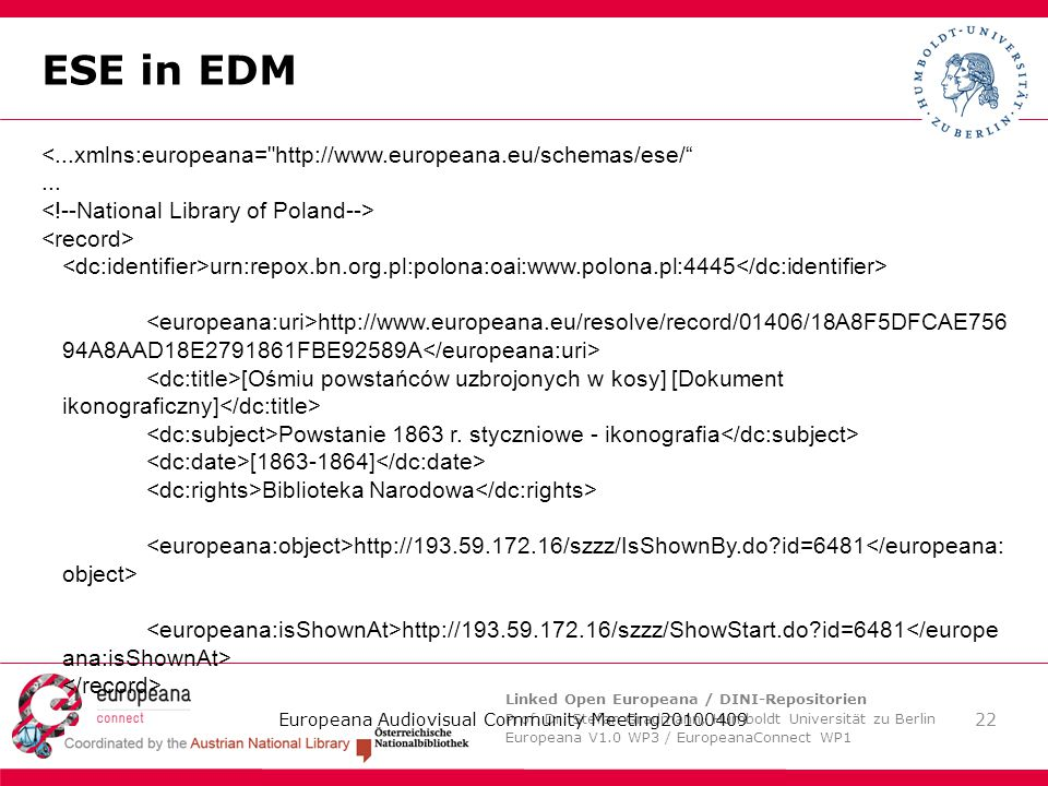 Linked Open Europeana / DINI-Repositorien Prof. Dr.