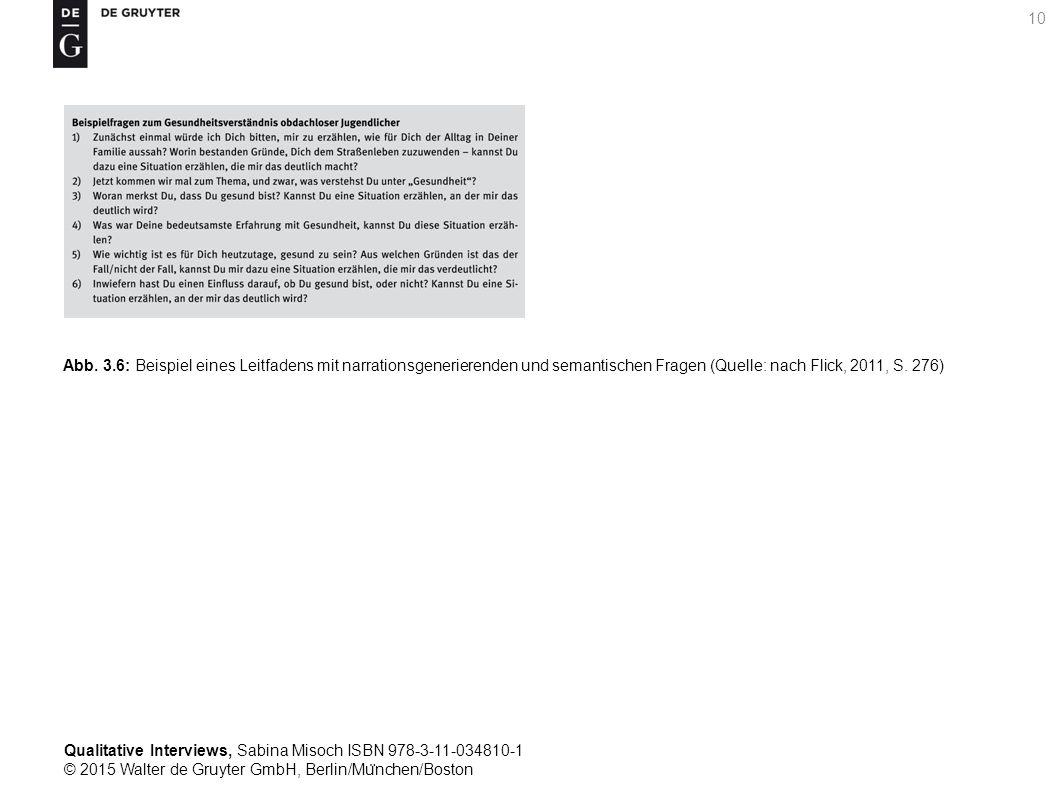 Qualitative Interviews, Sabina Misoch ISBN 978-3-11-034810-1 © 2015 Walter de Gruyter GmbH, Berlin/Mu ̈ nchen/Boston 10 Abb.