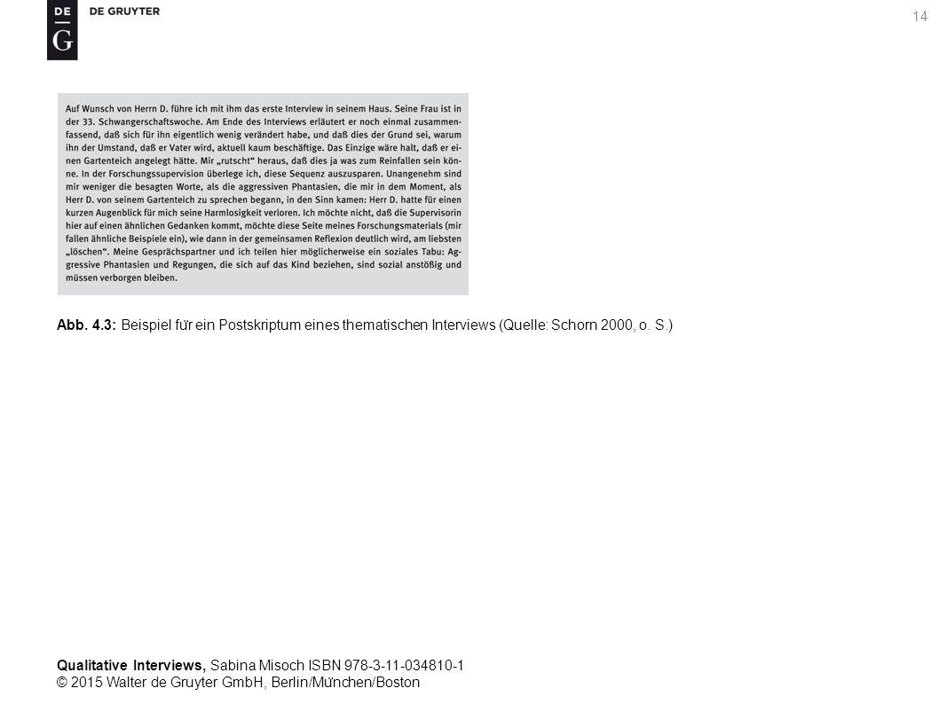 Qualitative Interviews, Sabina Misoch ISBN 978-3-11-034810-1 © 2015 Walter de Gruyter GmbH, Berlin/Mu ̈ nchen/Boston 14 Abb.