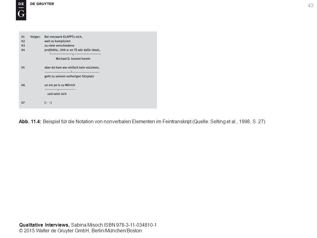 Qualitative Interviews, Sabina Misoch ISBN 978-3-11-034810-1 © 2015 Walter de Gruyter GmbH, Berlin/Mu ̈ nchen/Boston 43 Abb.