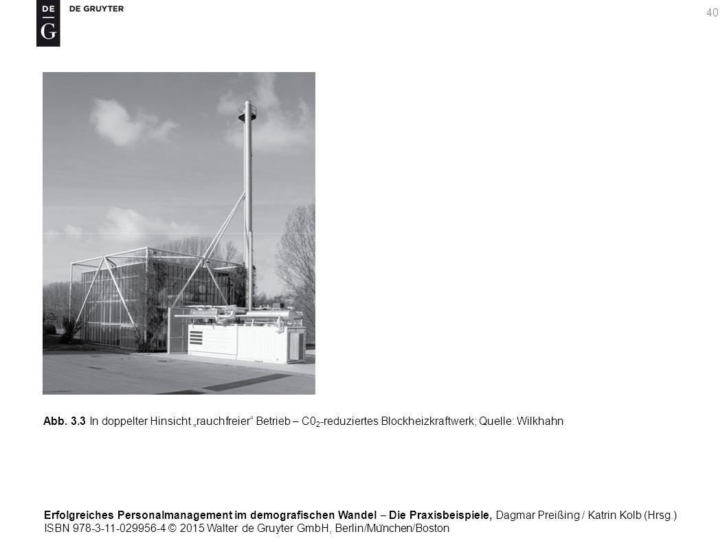 Erfolgreiches Personalmanagement im demografischen Wandel ‒ Die Praxisbeispiele, Dagmar Preißing / Katrin Kolb (Hrsg.) ISBN 978-3-11-029956-4 © 2015 Walter de Gruyter GmbH, Berlin/Mu ̈ nchen/Boston 40 Abb.