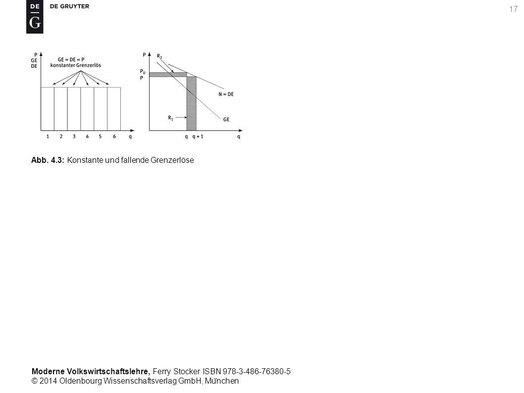 Moderne Volkswirtschaftslehre, Ferry Stocker ISBN 978-3-486-76380-5 © 2014 Oldenbourg Wissenschaftsverlag GmbH, Mu ̈ nchen 17 Abb. 4.3: Konstante und