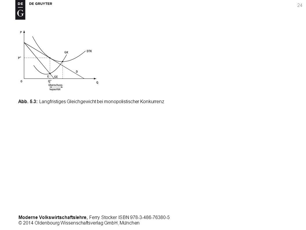 Moderne Volkswirtschaftslehre, Ferry Stocker ISBN 978-3-486-76380-5 © 2014 Oldenbourg Wissenschaftsverlag GmbH, Mu ̈ nchen 24 Abb. 5.3: Langfristiges