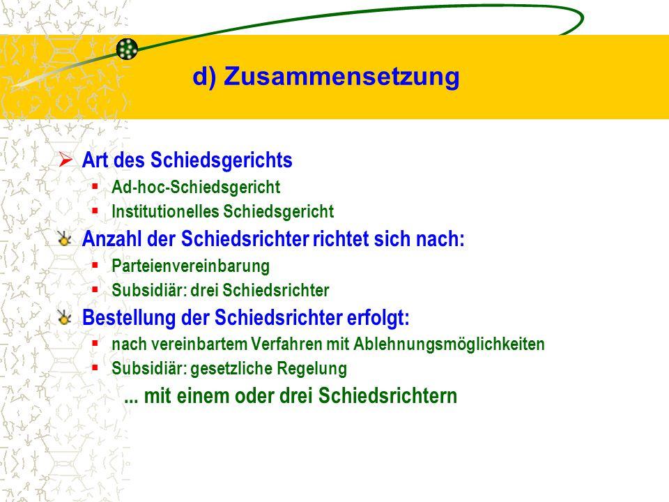 Beispiel: www.cybercourt.de = institutionelle Schlichtungsstelle - Chatboxen Online-Plattform zur Austragung von Streitigkeiten Einsatzbereiche: - Online-Banking - Online-Versicherungen Nutzung/Angebot von Telediensten Voraussetzung: Parteienvereinbarung!