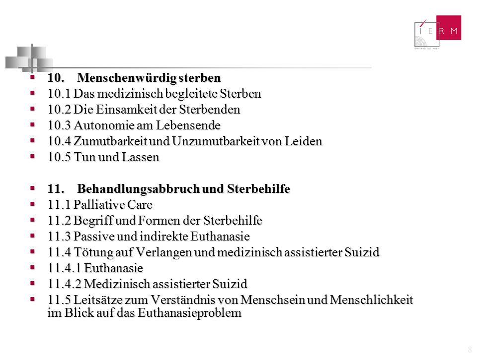 29  D.Ritschls medizin- und pflegeethisches Story-Konzept  W.