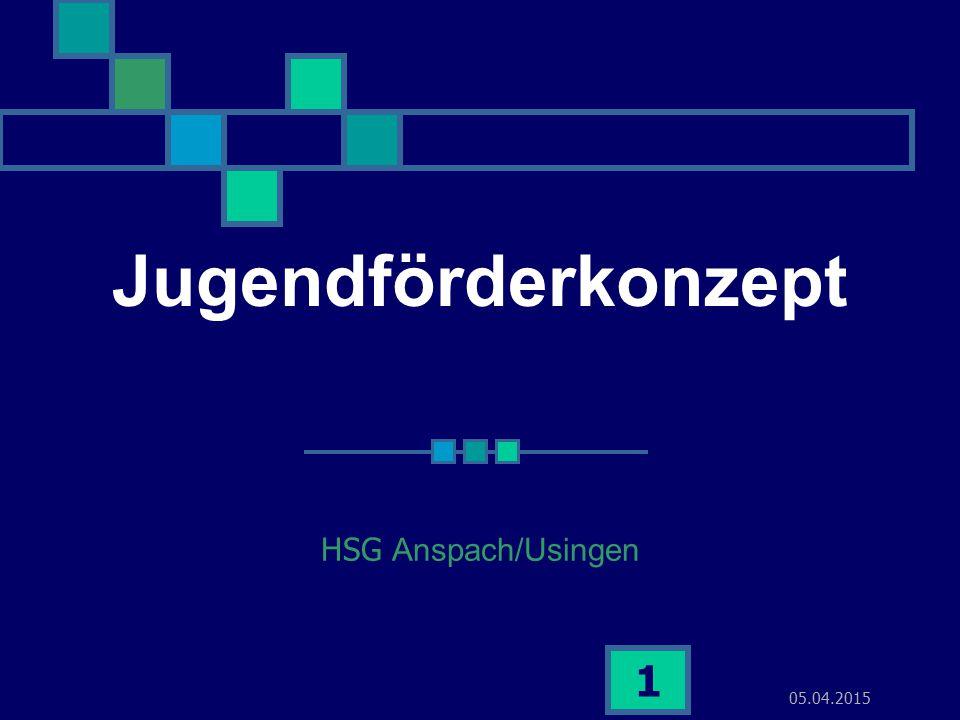 05.04.2015 1 Jugendförderkonzept HSG Anspach/Usingen