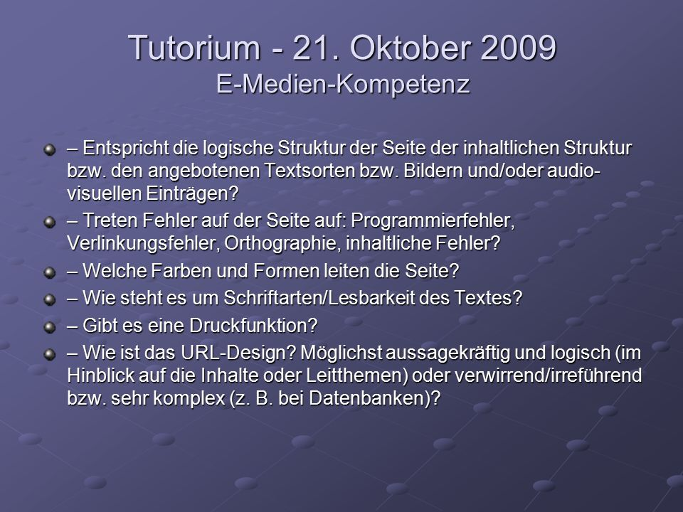 Tutorium - 21.