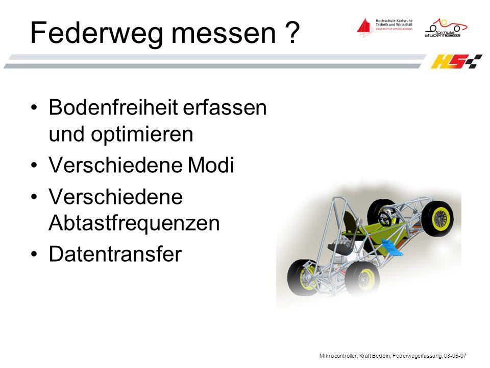 Mikrocontroller, Kraft Bedoin, Federwegerfassung, 08-05-07 Federweg messen .