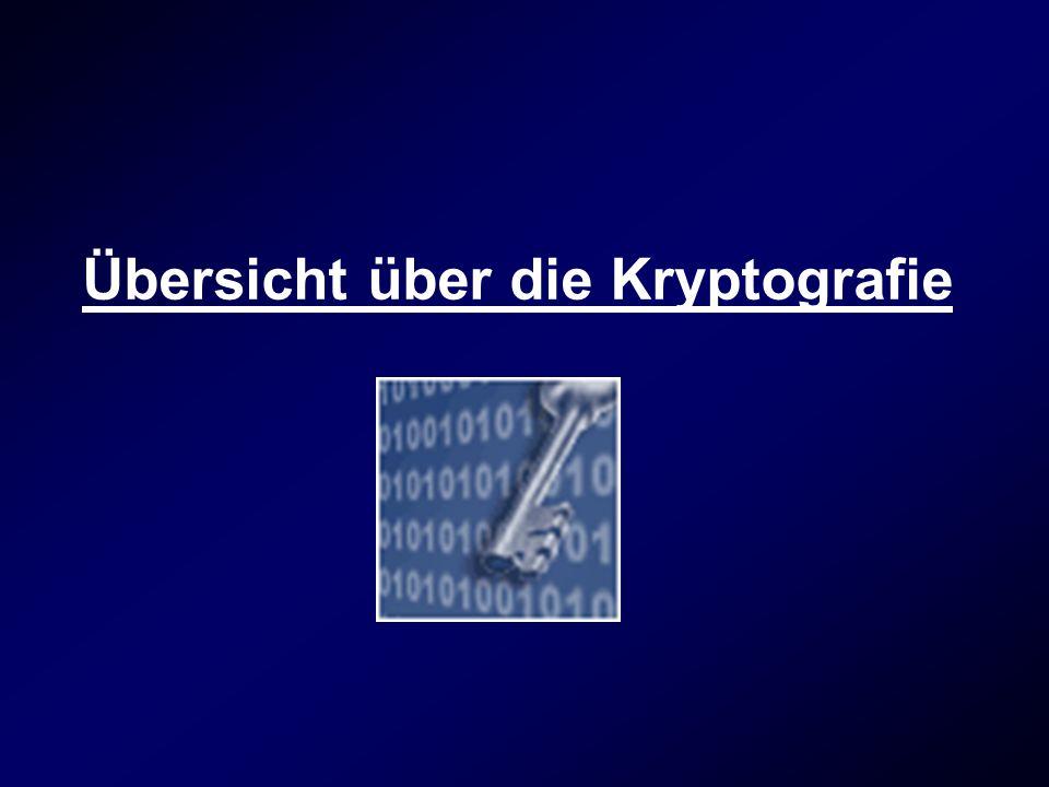Übersicht über die Kryptografie