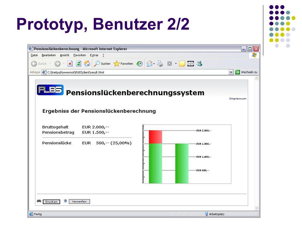 Prototyp, Benutzer 2/2