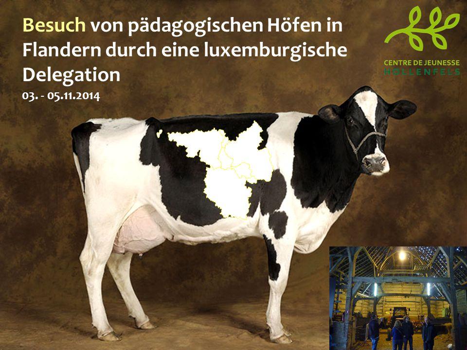 Besuch von pädagogischen Höfen in Flandern durch eine luxemburgische Delegation 03. - 05.11.2014