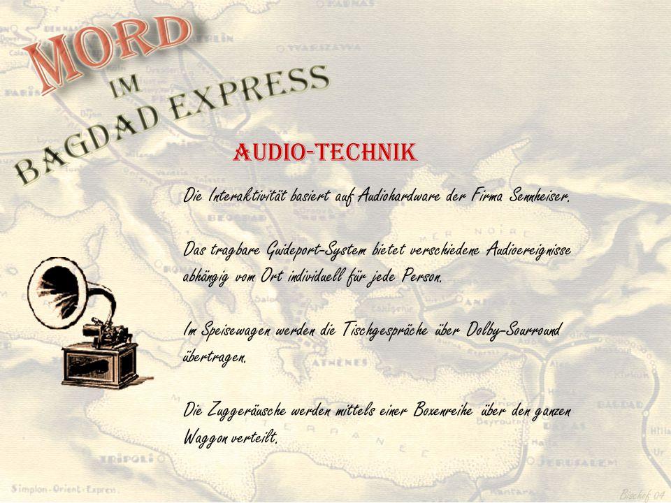 Die Interaktivität basiert auf Audiohardware der Firma Sennheiser. Das tragbare Guideport-System bietet verschiedene Audioereignisse abhängig vom Ort