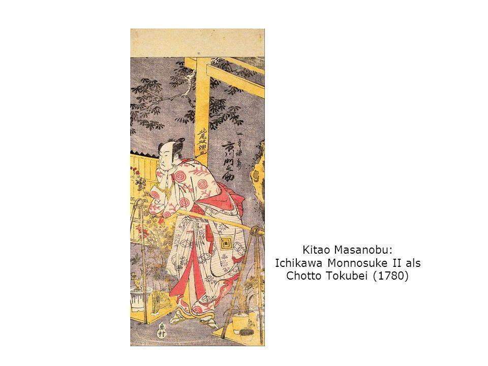 Kitao Masanobu: Ichikawa Monnosuke II als Chotto Tokubei (1780)