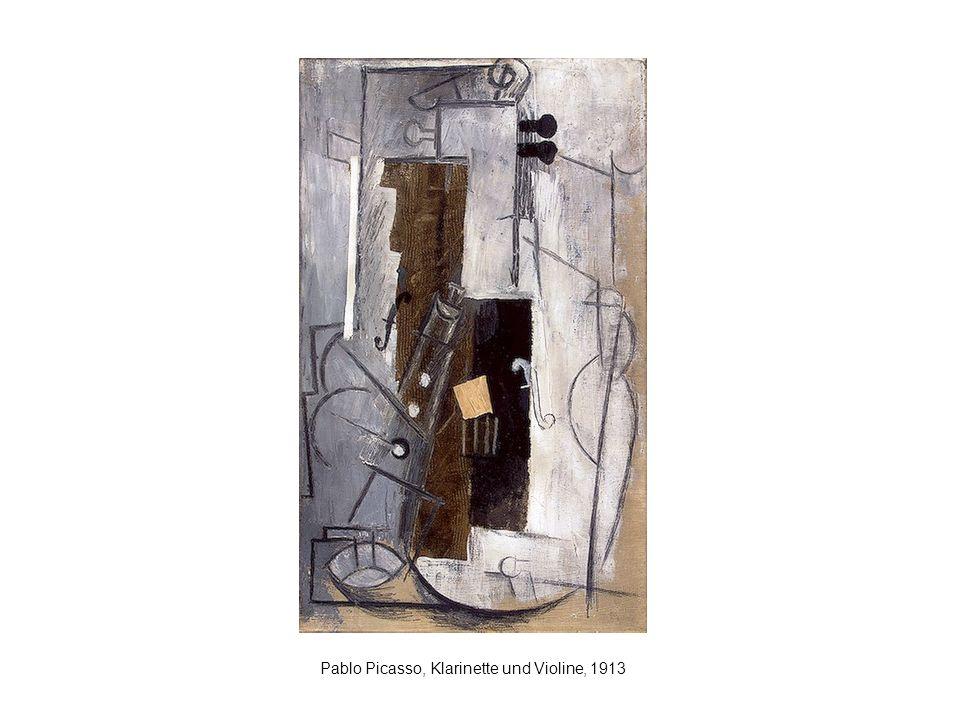 Pablo Picasso, Klarinette und Violine, 1913
