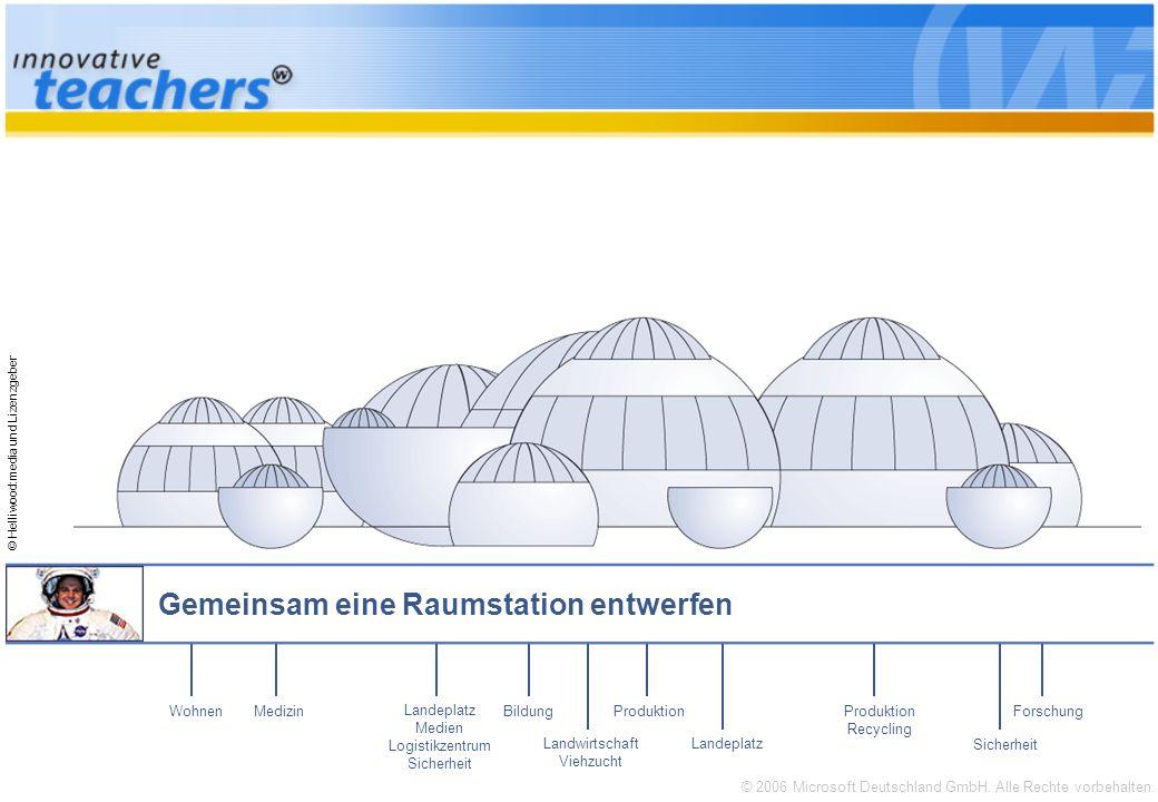 © 2006 Microsoft Deutschland GmbH. Alle Rechte vorbehalten. © Helliwood:media und Lizenzgeber Gemeinsam eine Raumstation entwerfen Forschung Sicherhei