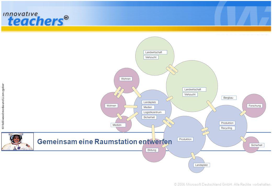 © 2006 Microsoft Deutschland GmbH. Alle Rechte vorbehalten. © Helliwood:media und Lizenzgeber Gemeinsam eine Raumstation entwerfen