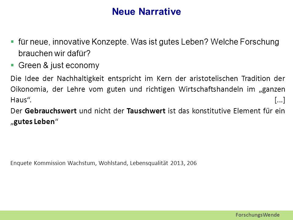 ForschungsWende Neue Narrative  für neue, innovative Konzepte.