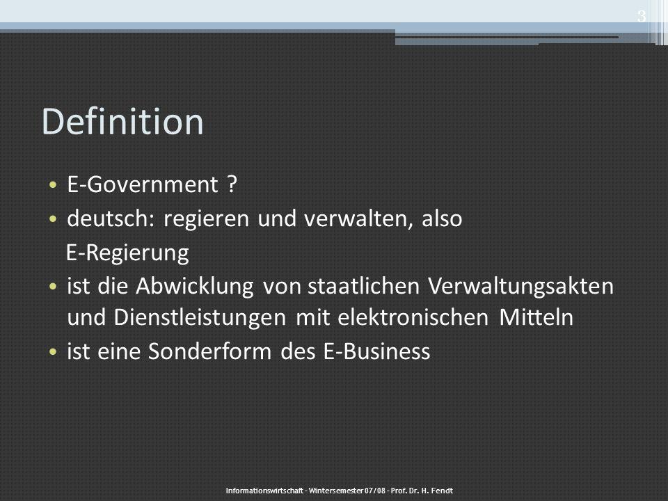 4 strategische Ziele 1)Portfolio 2)Prozessketten 3)Identifizierung 4) Kommunikation Informationswirtschaft – Wintersemester 07/08 – Prof.