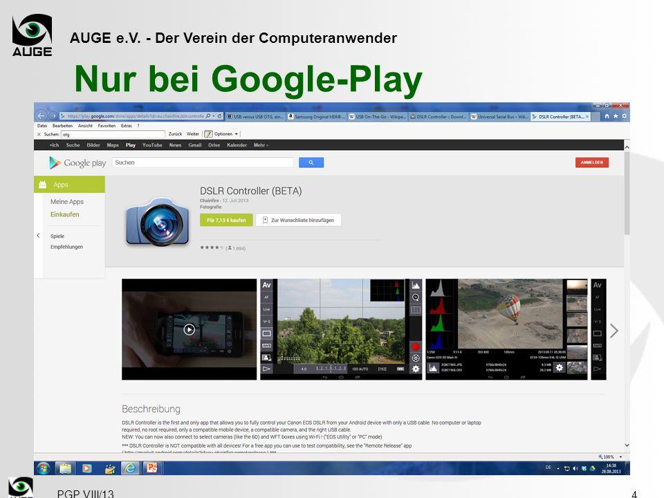 AUGE e.V. - Der Verein der Computeranwender Nur bei Google-Play 4 PGP VIII/13