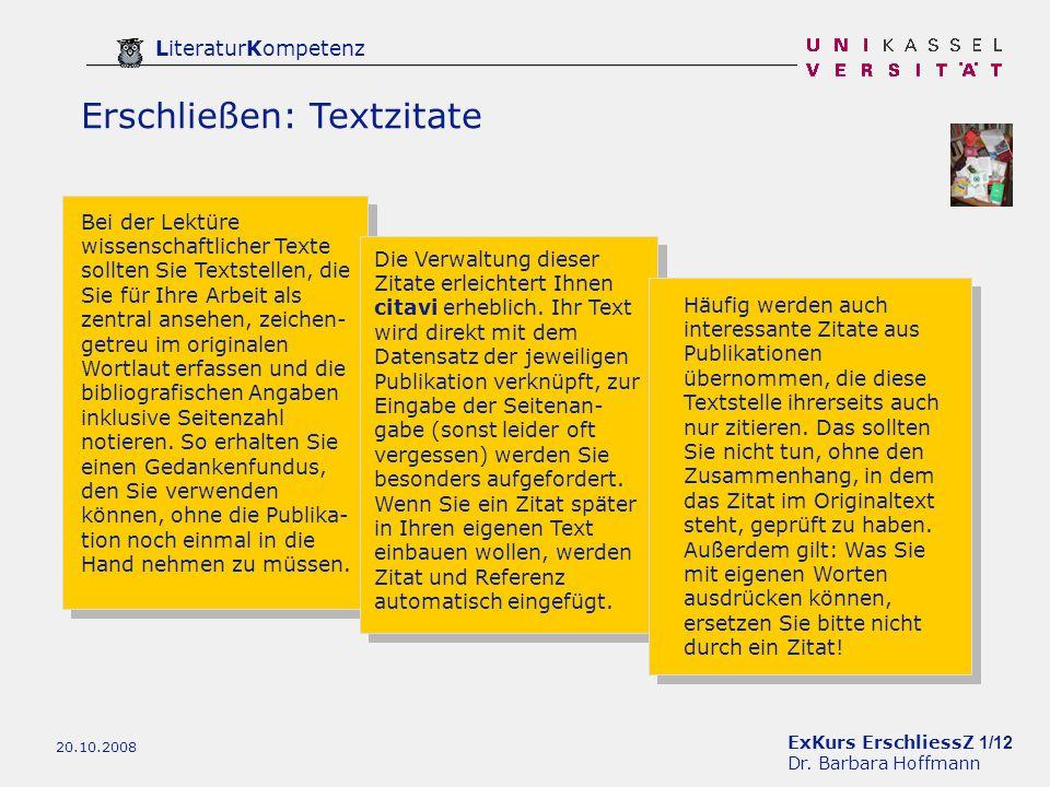 ExKurs ErschliessZ 1/12 Dr.