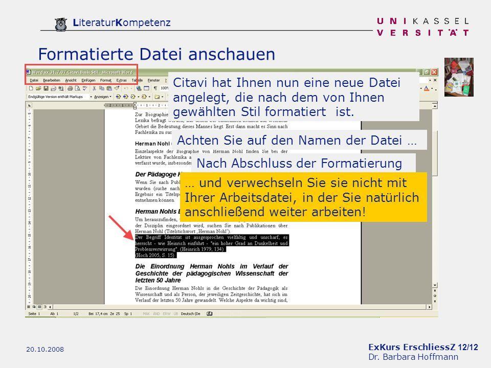 ExKurs ErschliessZ 12/12 Dr.