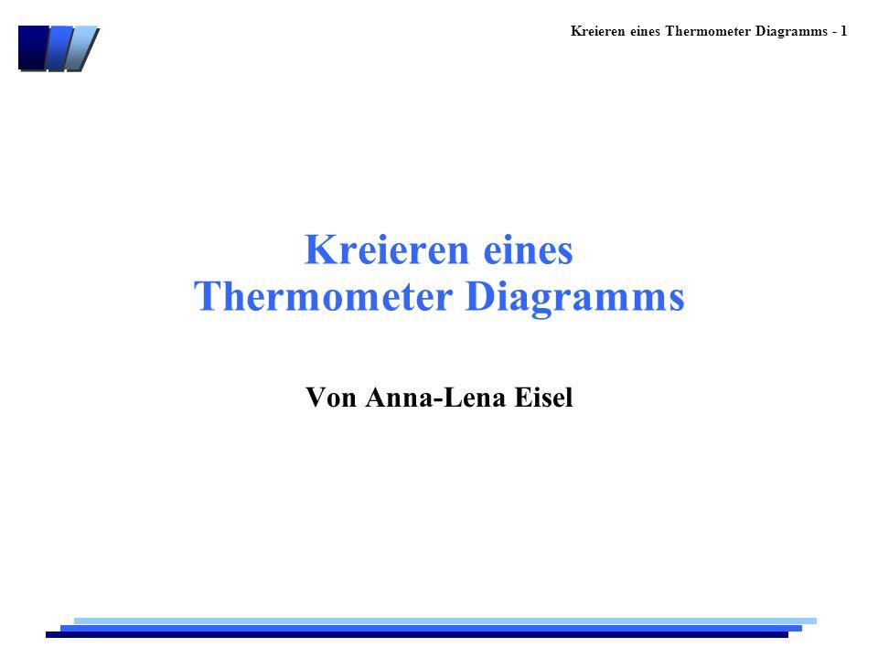 Kreieren eines Thermometer Diagramms - 1 Kreieren eines Thermometer Diagramms Von Anna-Lena Eisel
