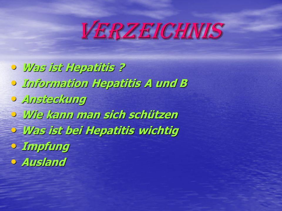 Verzeichnis Was ist Hepatitis .Was ist Hepatitis .