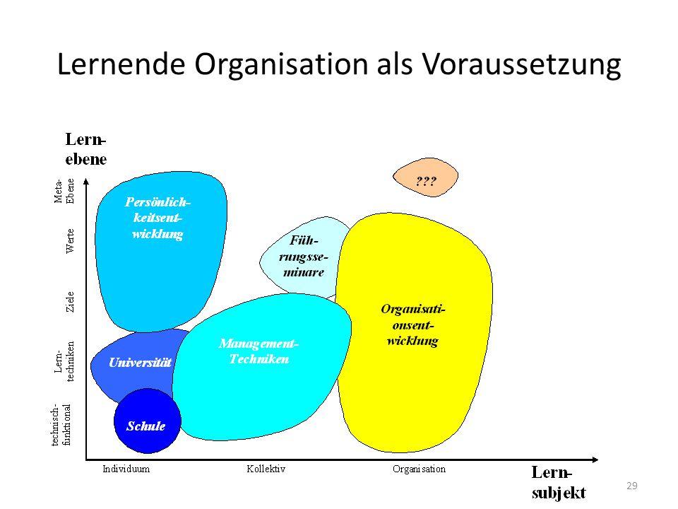 Lernende Organisation als Voraussetzung 30