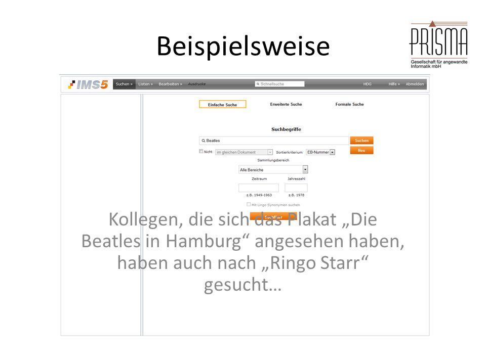 """Beispielsweise Kollegen, die sich das Plakat """"Die Beatles in Hamburg angesehen haben, haben auch nach """"Ringo Starr gesucht…"""