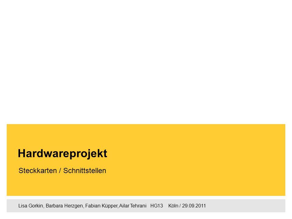 1 Lisa Gorkin, Barbara Herzgen, Fabian Küpper, Ailar Tehrani  HG13  Köln / 29.09.2011 1.Agenda 2.Mainboard 3.Welche Hardwarekomponenten gibt es und was sind dessen Aufgaben 4.Laufwerke 5.Steckkarten 6.Grafikkarte 7.Wie wird die Steckkarte mit dem PC verbunden.
