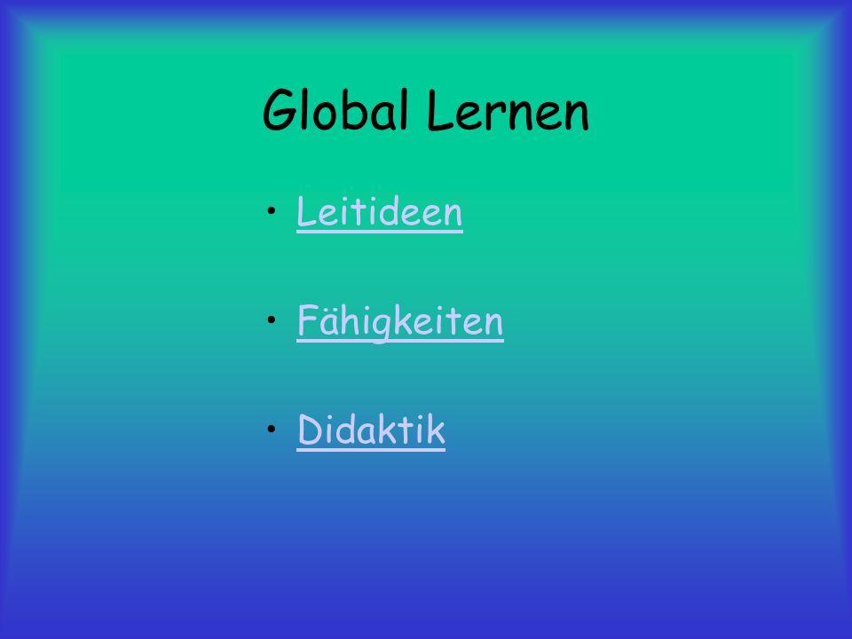 Global Lernen Leitideen Fähigkeiten Didaktik