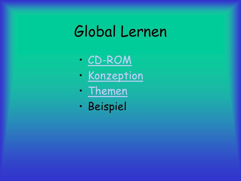Global Lernen CD-ROM Konzeption Themen Beispiel