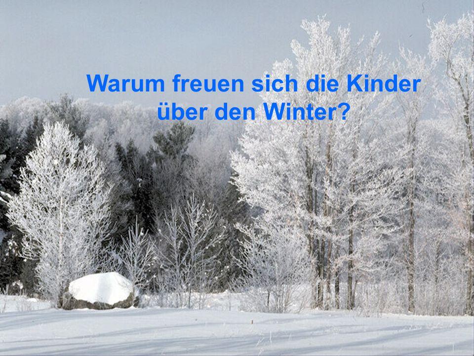 Warum freuen sich die Kinder über den Winter?