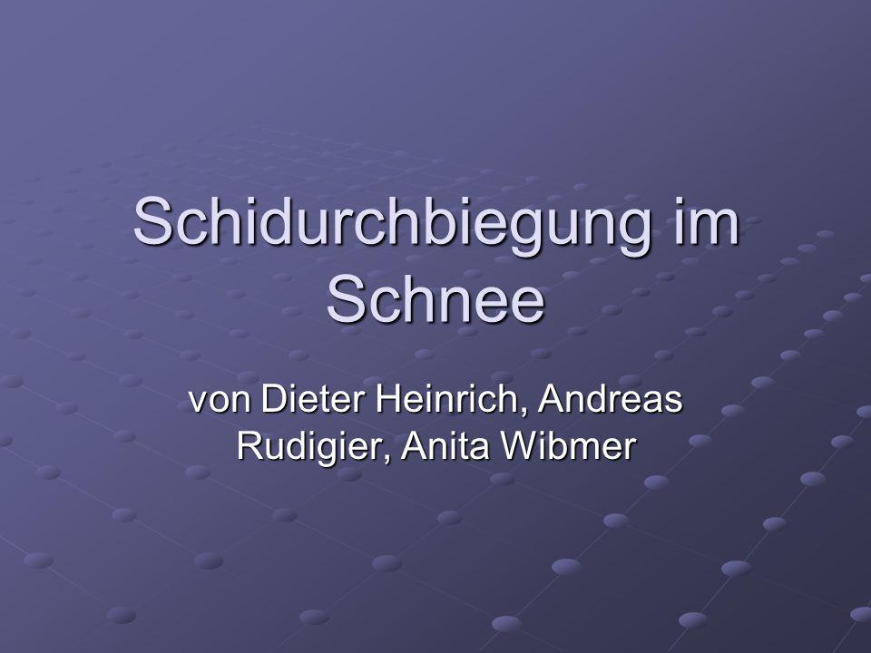Schidurchbiegung im Schnee von Dieter Heinrich, Andreas Rudigier, Anita Wibmer