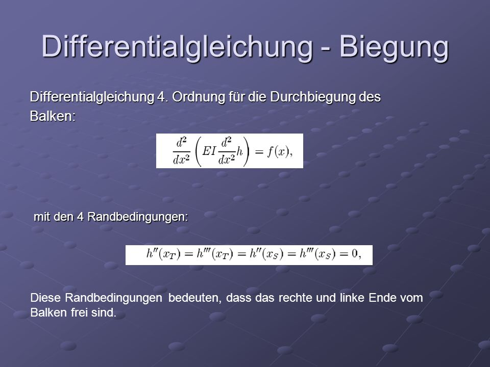 Differentialgleichung - Biegung Differentialgleichung 4.