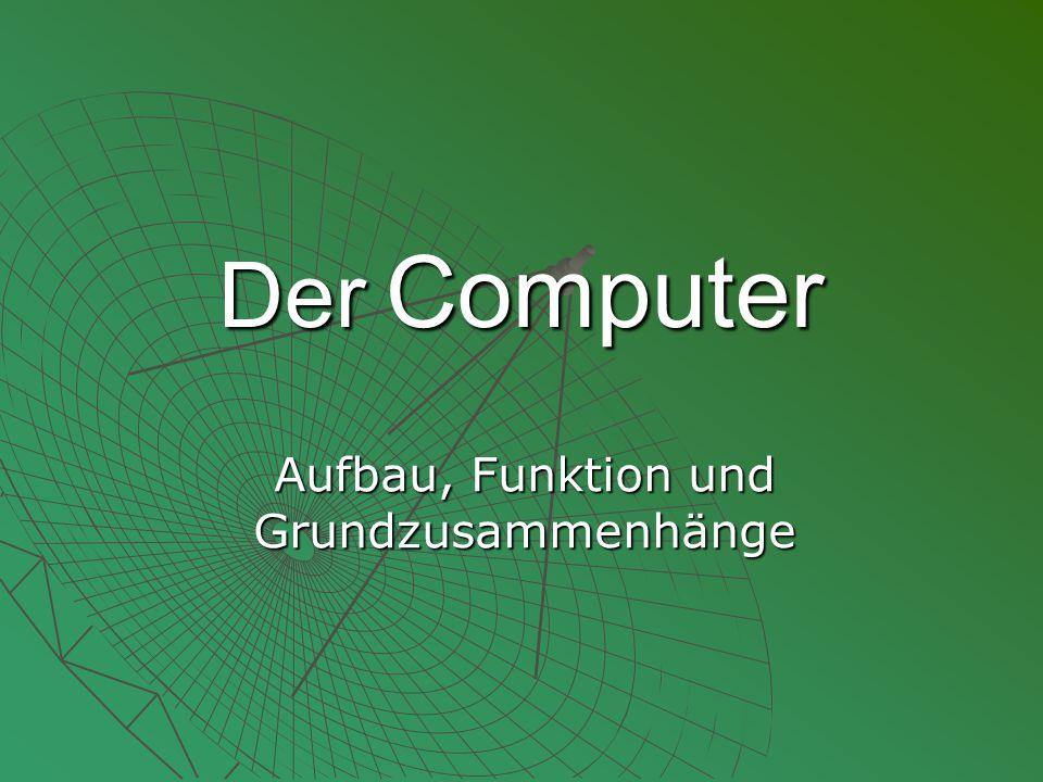 Der Computer Aufbau, Funktion und Grundzusammenhänge