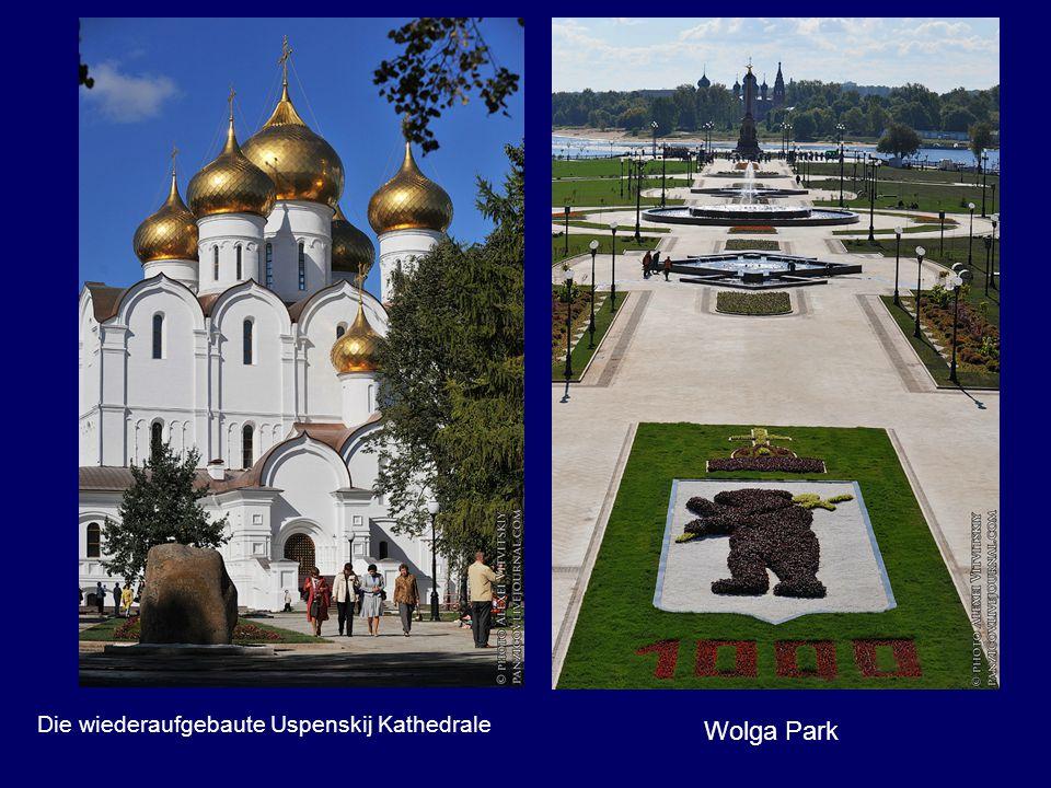 Die wiederaufgebaute Uspenskij Kathedrale Wolga Park