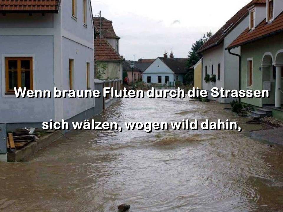 Wenn braune Fluten durch die Strassen sich wälzen, wogen wild dahin, Wenn braune Fluten durch die Strassen sich wälzen, wogen wild dahin,