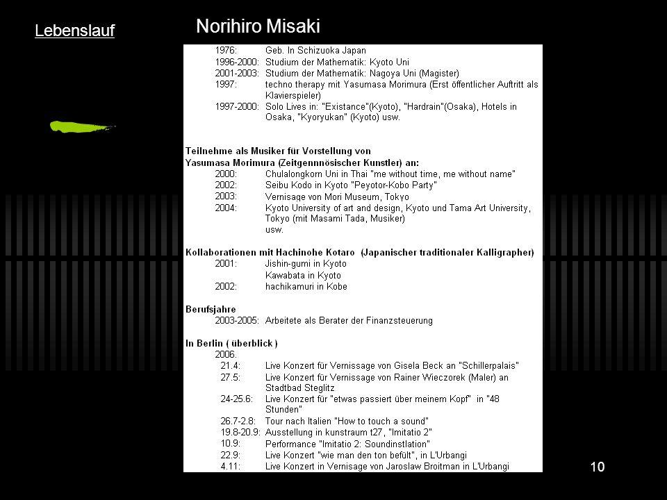 10 Norihiro Misaki Lebenslauf