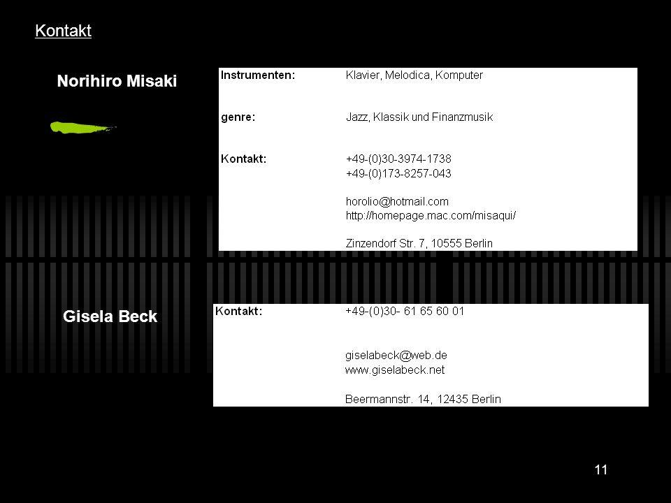 11 Kontakt Norihiro Misaki Gisela Beck