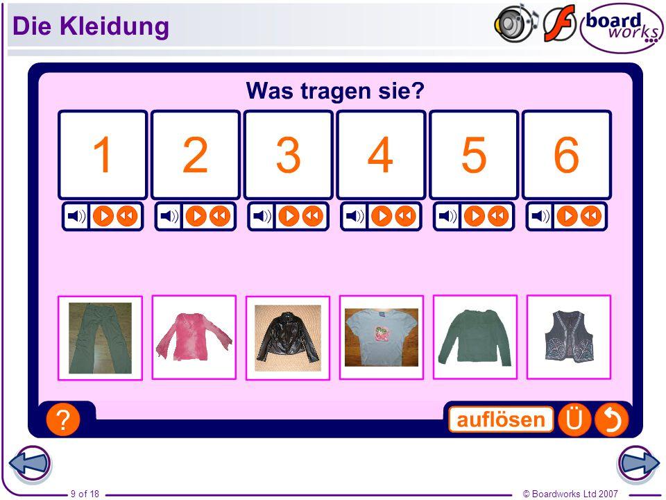© Boardworks Ltd 200710 of 18 Die Kleidung