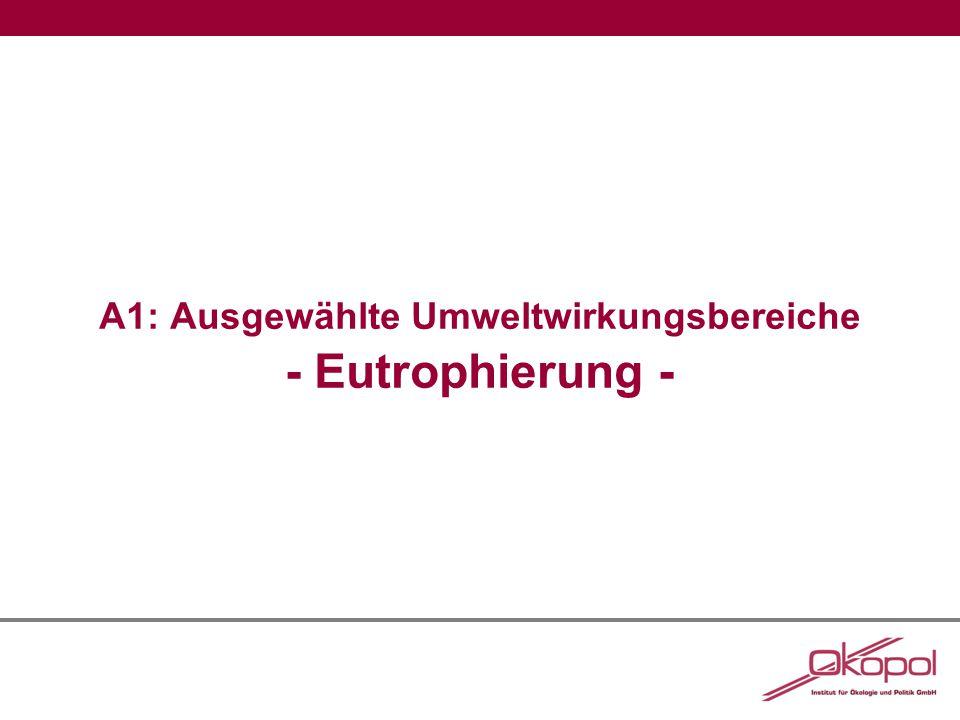 A1: Eutrophierung Abbildung 1:Stickstoff- und Phosphoreinträge aus Punkt- und diffusen Quellen in die Oberflächengewässer in Deutschland Quelle: Umweltbundesamt 2013, S.