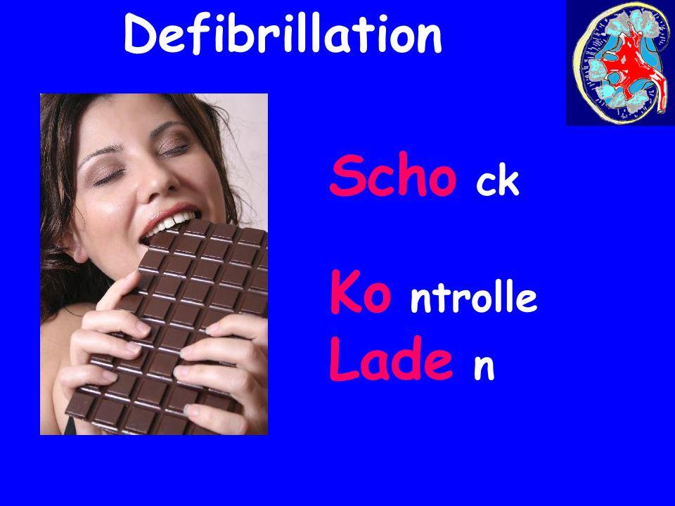 Scho ck Ko ntrolle Lade n Defibrillation