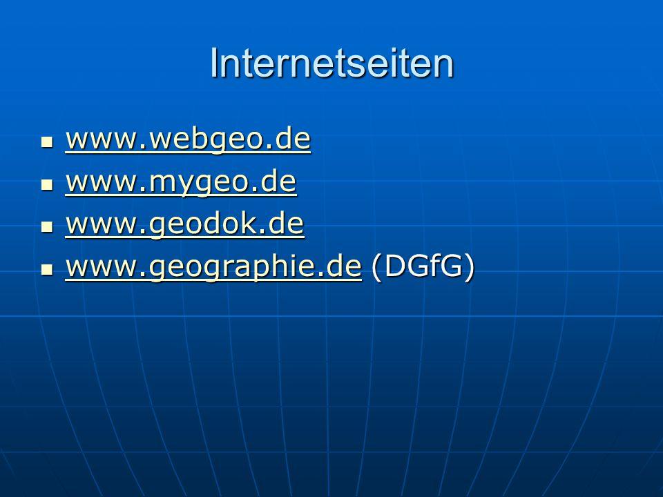 Internetseiten www.webgeo.de www.webgeo.de www.webgeo.de www.mygeo.de www.mygeo.de www.mygeo.de www.geodok.de www.geodok.de www.geodok.de www.geograph