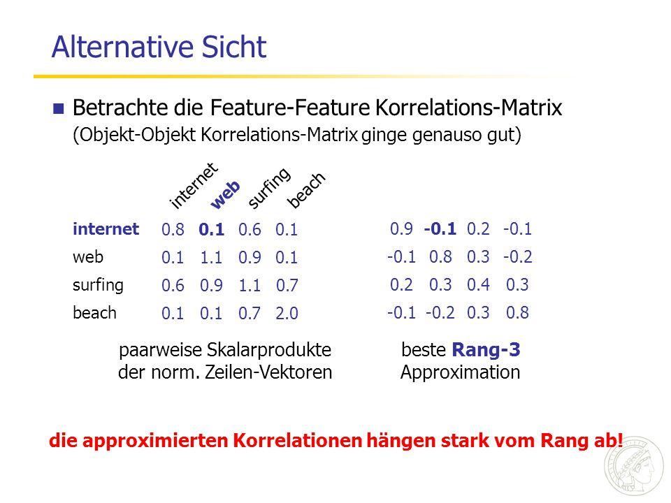 0.10.60.1 1.10.90.1 0.60.91.10.7 0.1 0.72.0 die approximierten Korrelationen hängen stark vom Rang ab! internet web surfing beach internet web surfing