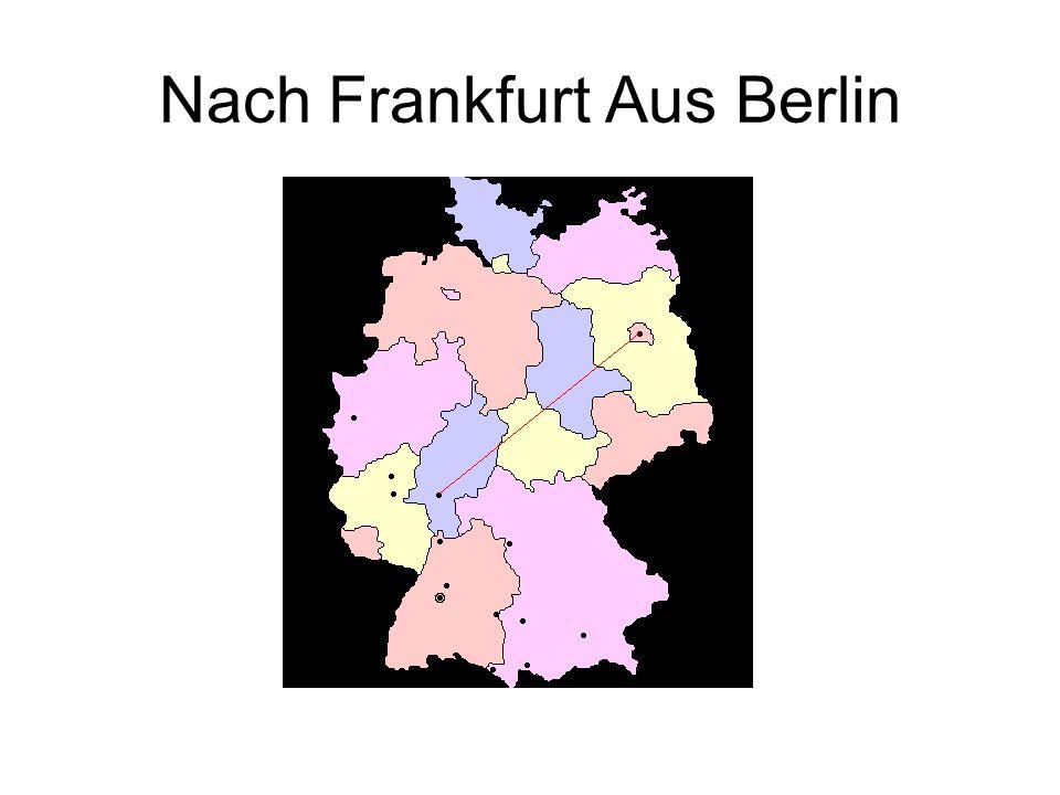 Nach Frankfurt Aus Berlin