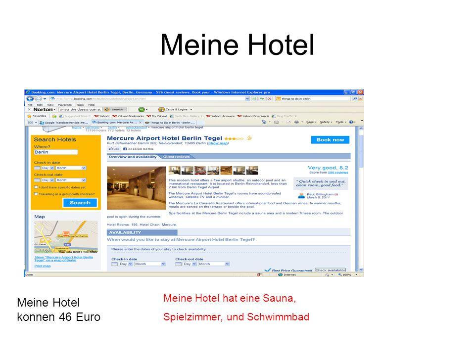 Meine Hotel Meine Hotel konnen 46 Euro Meine Hotel hat eine Sauna, Spielzimmer, und Schwimmbad