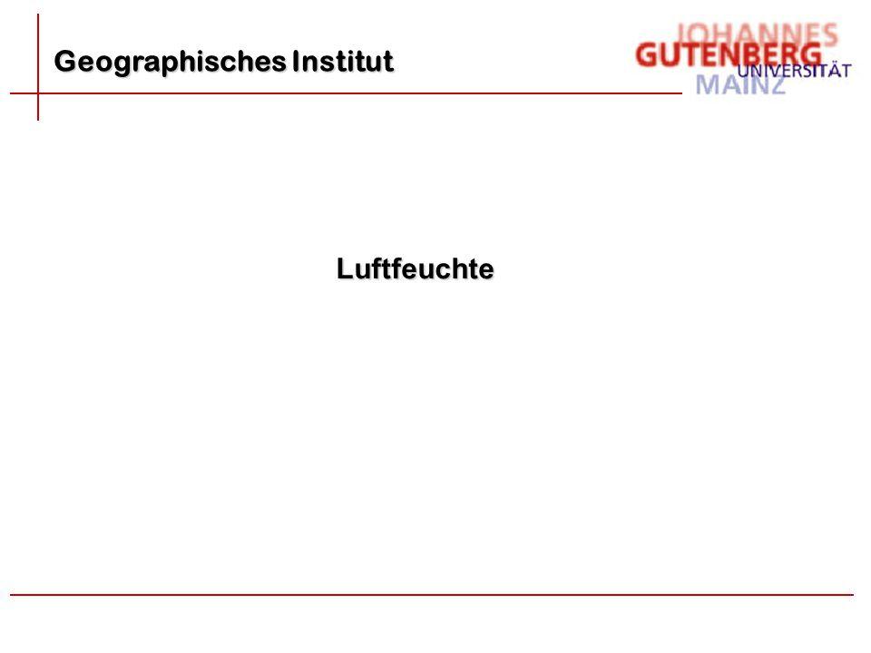 Geographisches Institut Luftfeuchte