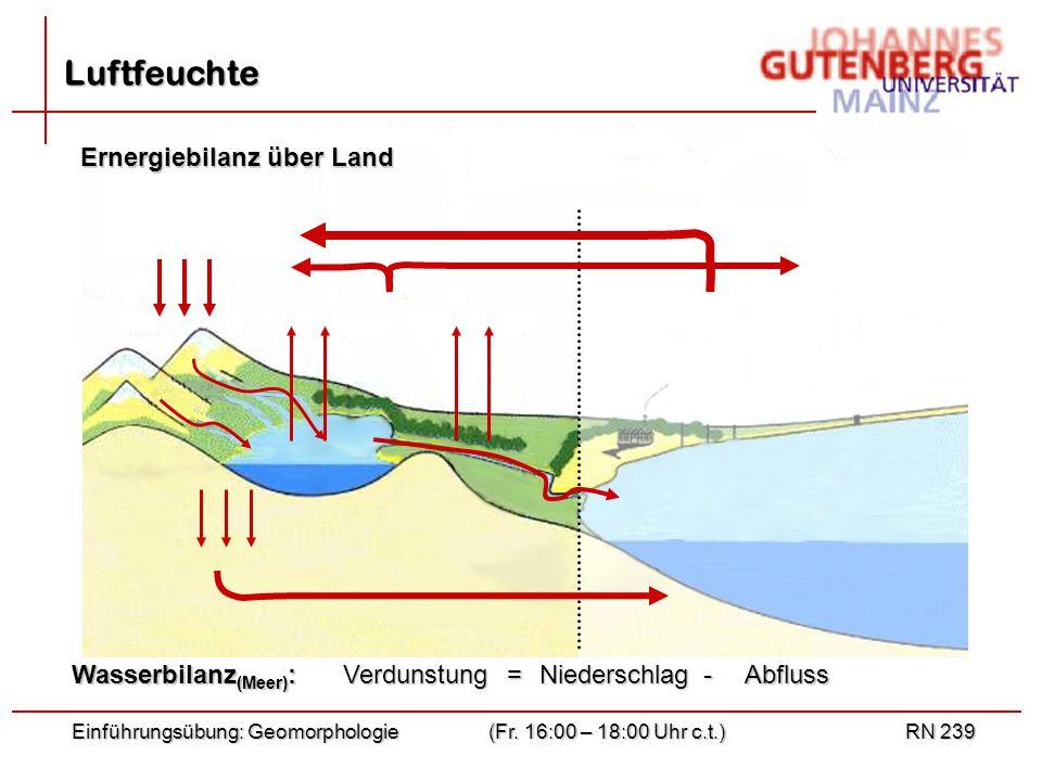 Einführungsübung: Geomorphologie(Fr.
